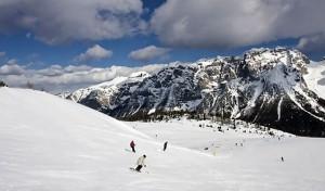 Piste da sci imbiancate in Trentino