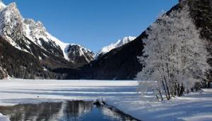 Il lago di Anterselva dove verrà tentato un nuovo record di apnea